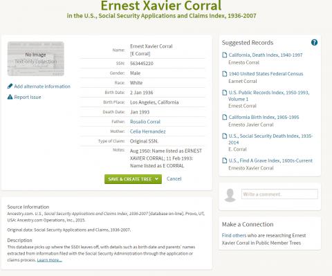 Ernesto Social Security Application