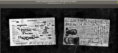 Jose Galindo multiple entry card
